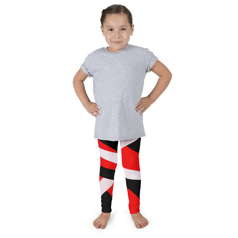 Red Black Striped Kid's Pants leggings