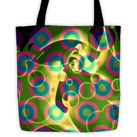 Psychedelic Trippy Abstract Tote bag - Ocdesignzz