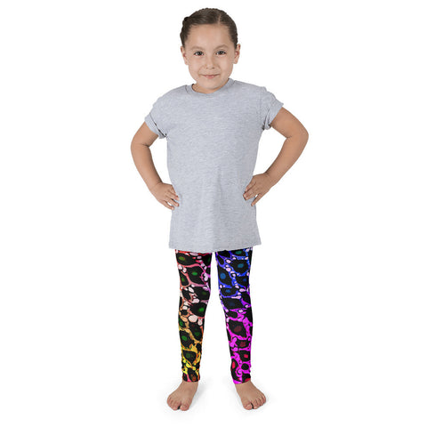 Rainbow Cheetah Print Kid's Pants leggings