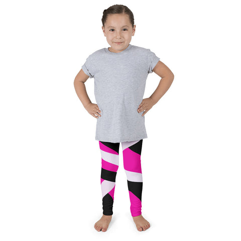 Pink Black Striped Kid's Pants leggings