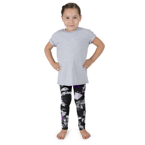 Purple Black Geometric Kid's Pants leggings