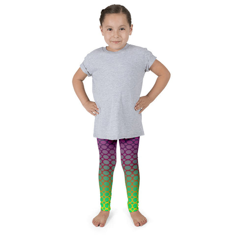 Florescent Pink Neon Green Polka-dot Kid's Pants leggings