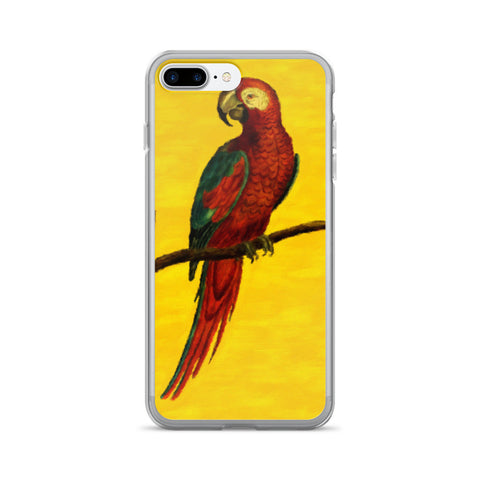 Vibrant Painted Parrot iPhone 7/7 Plus Case