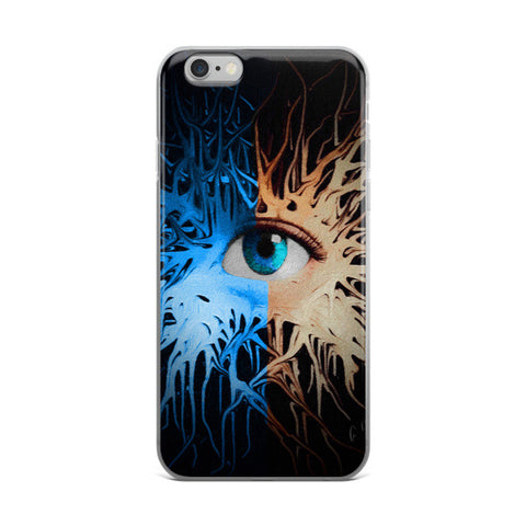 Blue Ice Eye Abstract Art iPhone case - Ocdesignzz  - 1