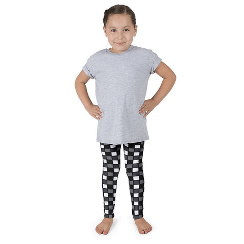 Black White Checker Kid's Pants leggings