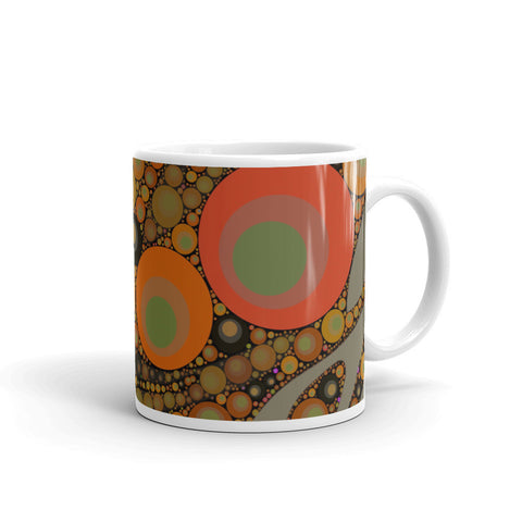Florescent Retro Polka-dot Mug