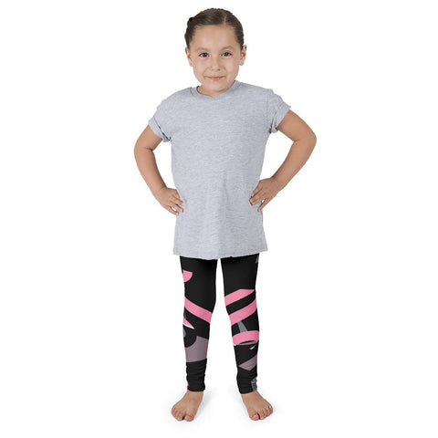 Pink Black Abstract Kid's Pants leggings