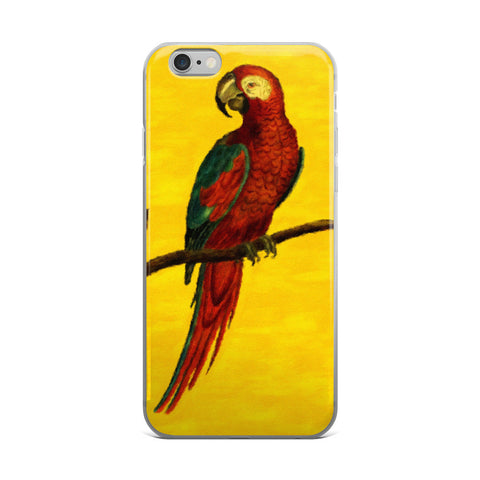 Vibrant Painted Parrot iPhone 5/5s/Se, 6/6s, 6/6s Plus Case