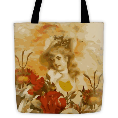 Gorgeous Painted Vintage Women Flowers Tote bag - Ocdesignzz