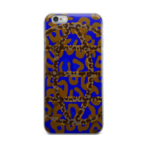 Florescent Blue Cheetah Abstract iPhone case - Ocdesignzz  - 1