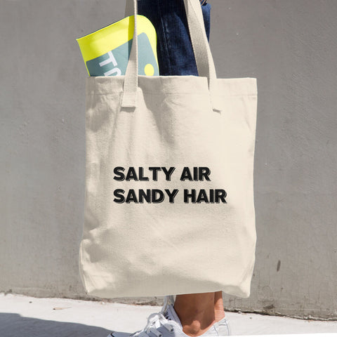 Salty Air Sandy Hair Large Cotton Tote Bag