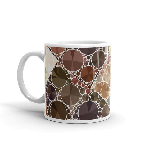 Brown Cream Bling Mug