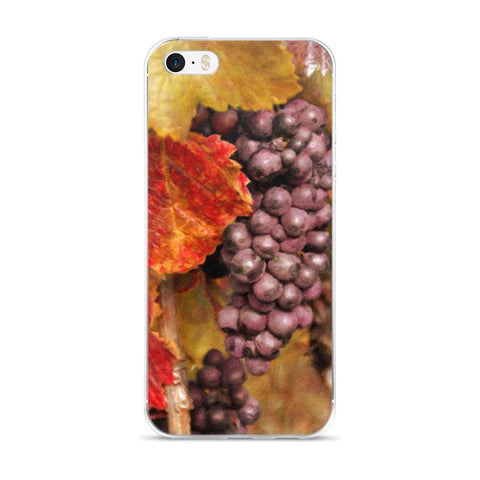 Painted Vintage Grapes iPhone 5/5s/Se, 6/6s, 6/6s Plus Case