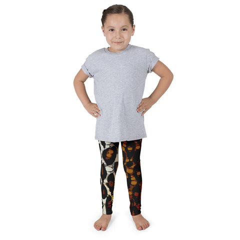 Brown Cheetah Print Kid's Pants leggings