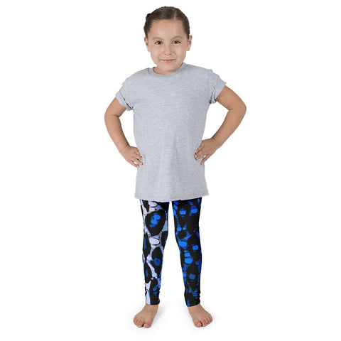 Blue Cheetah Print Kid's Pants leggings