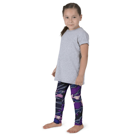Funky Purple Zebra Print Kid's Pants  leggings