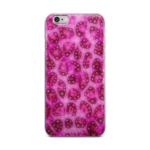 Glossy Pink Cheetah Stars iPhone case - Ocdesignzz  - 1
