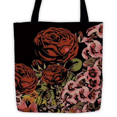 Powder Pink Rose Garden Tote bag - Ocdesignzz