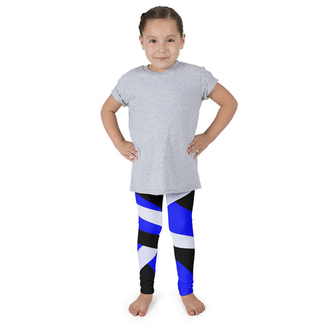 Blue Black Striped Kid's Pants leggings