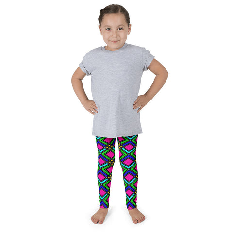 Pink Blue Green Checker Kid's Pants leggings