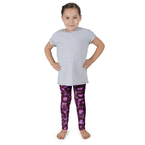 Pink Geometric Cheetah Print Kid's Pants leggings