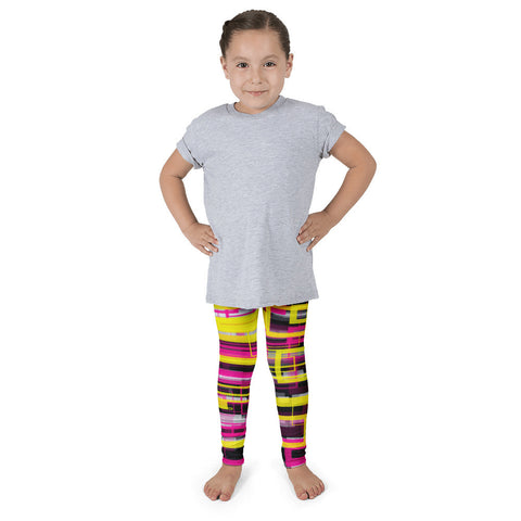 Pink Yellow Geometric Pattern Kid's Pants leggings