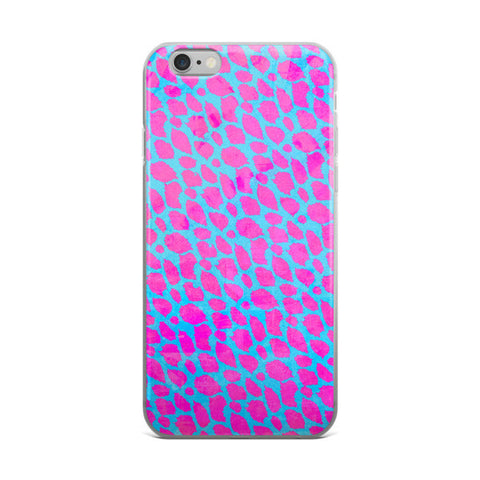 Pink Turquoise Cheetah iPhone case - Ocdesignzz  - 1