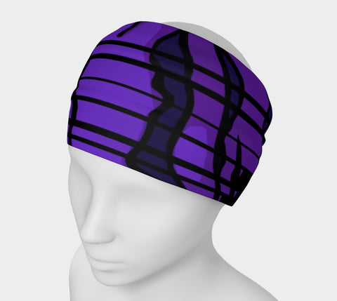 Purple tiger print headband