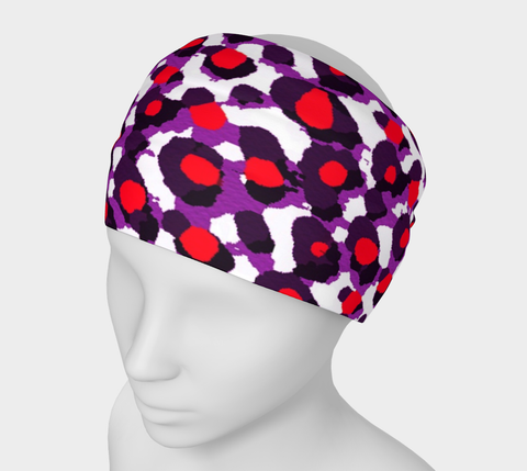 Red Purple Cheetah Abstract Headband