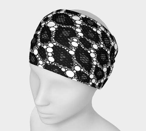 Black Cheetah Print Headband