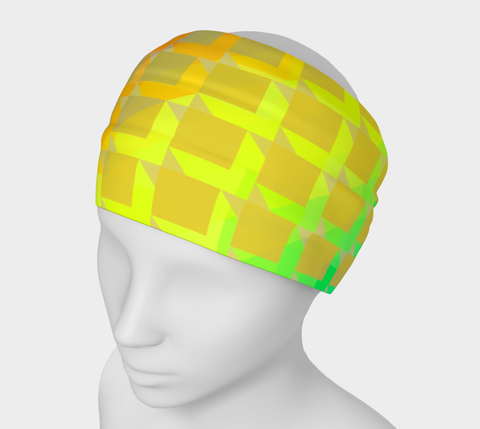 Florescent Yellow Pink Green Headband