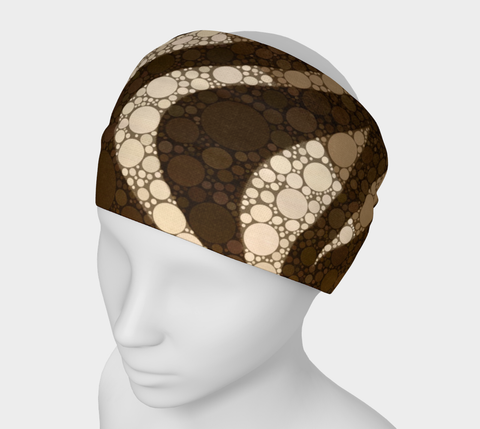 Brown Zebra Print headband