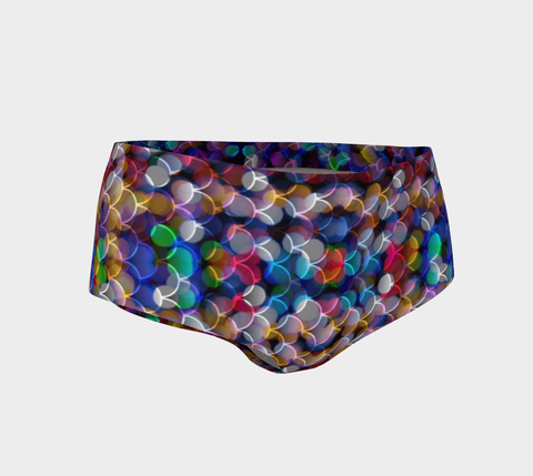 Mermaid Bokeh Pattern Women's Fitness Mini Shorts