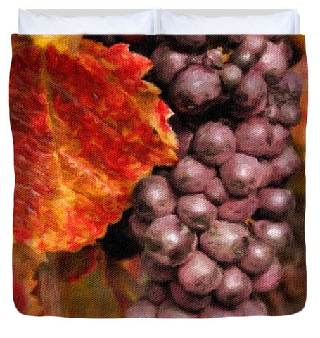 Vintage Grapes  - Duvet Cover