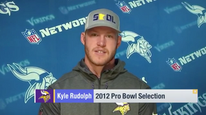 Vikings' Kyle Rudolph Shows Off Our SKOL Minnesota Lid On Good Morning Football, Converts To #TeamGrayDuck