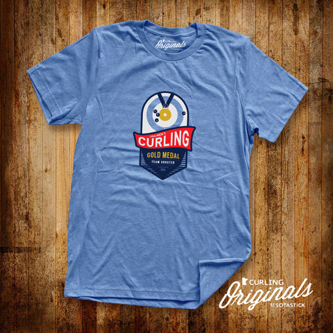 CURLING GOLD | TEE | BLUE