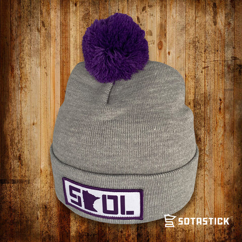 FOOTBALL STATE | PATCH POM BEANIE