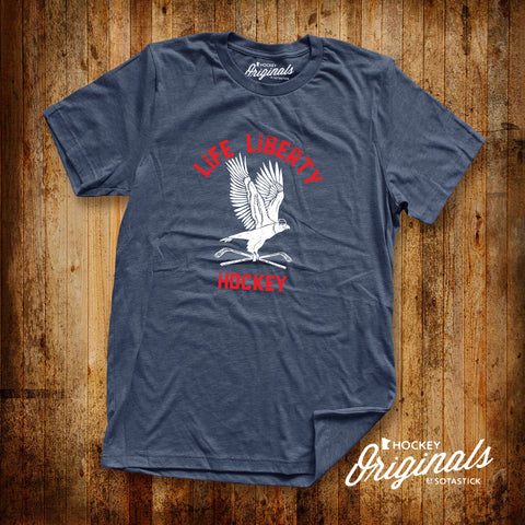 LIFE LIBERTY HOCKEY | T-SHIRT