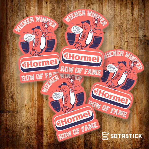 WIENER WINNER | BEER FRIDGE STICKER 4 PACK