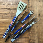 4 PIECE HOCKEY STICK BBQ SET