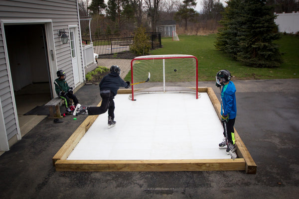 ... 10u0027 X 18u0027 Skate Anytime Synthetic Ice Rink Package ...
