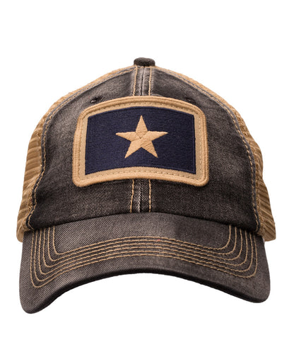 Bonnie Blue Flag Unstructured Trucker Hat Black