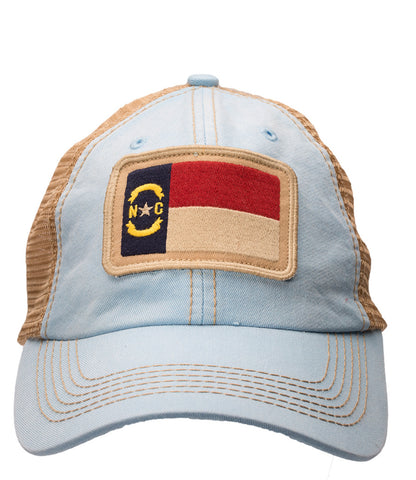 North Carolina State Flag Carolina Blue Trucker Hat