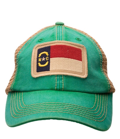 North Carolina State Flag Green Trucker Hat