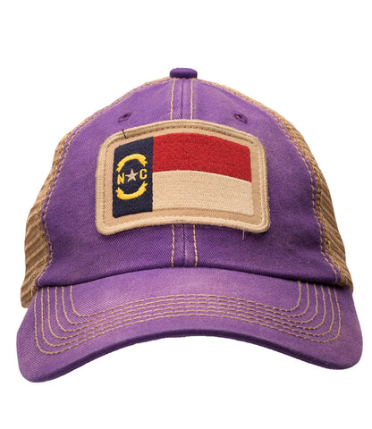 North Carolina State Flag Purple Trucker Hat