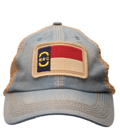 North Carolina State Flag Slate Trucker Hat