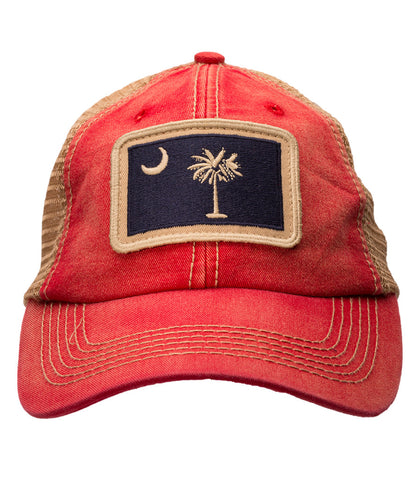 South Carolina State Flag Red Trucker Hat