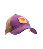 South Carolina State Outline Unstructured Trucker Hat Purple
