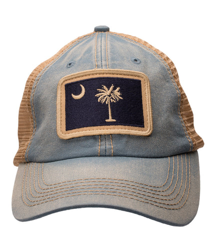South Carolina State Flag Slate Trucker Hat