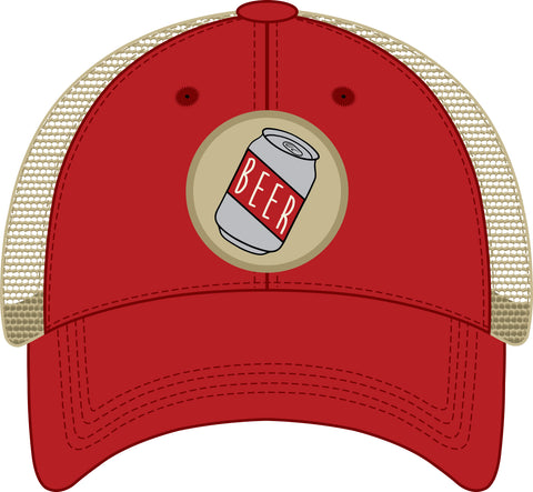 Beer Trucker Hat Red